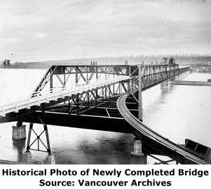 Pattullo Bridge Traffic >> New Westminster Railway Bridge (Fraser River Swing Bridge) - HistoricBridges.org