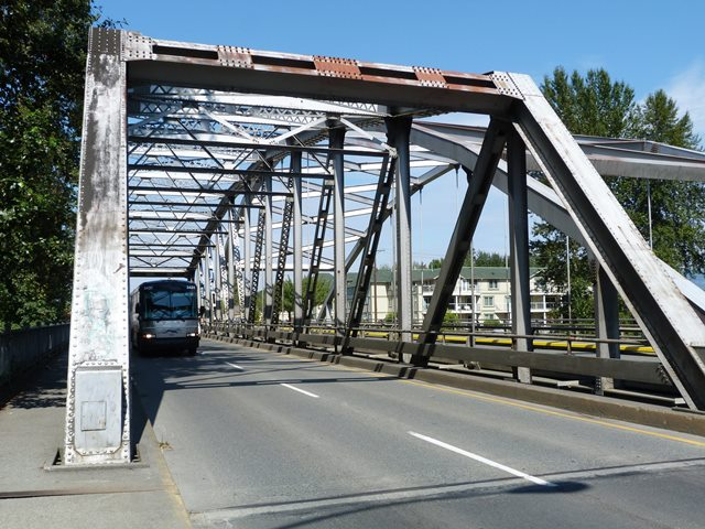 TC-1 Southbound Cowichan River Bridge
