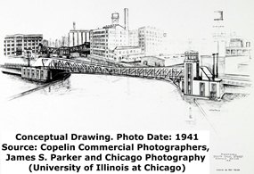 Canal Street Bridge Conceptual Drawing