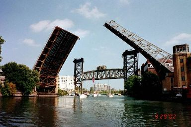 Canal Street Bridge Raised