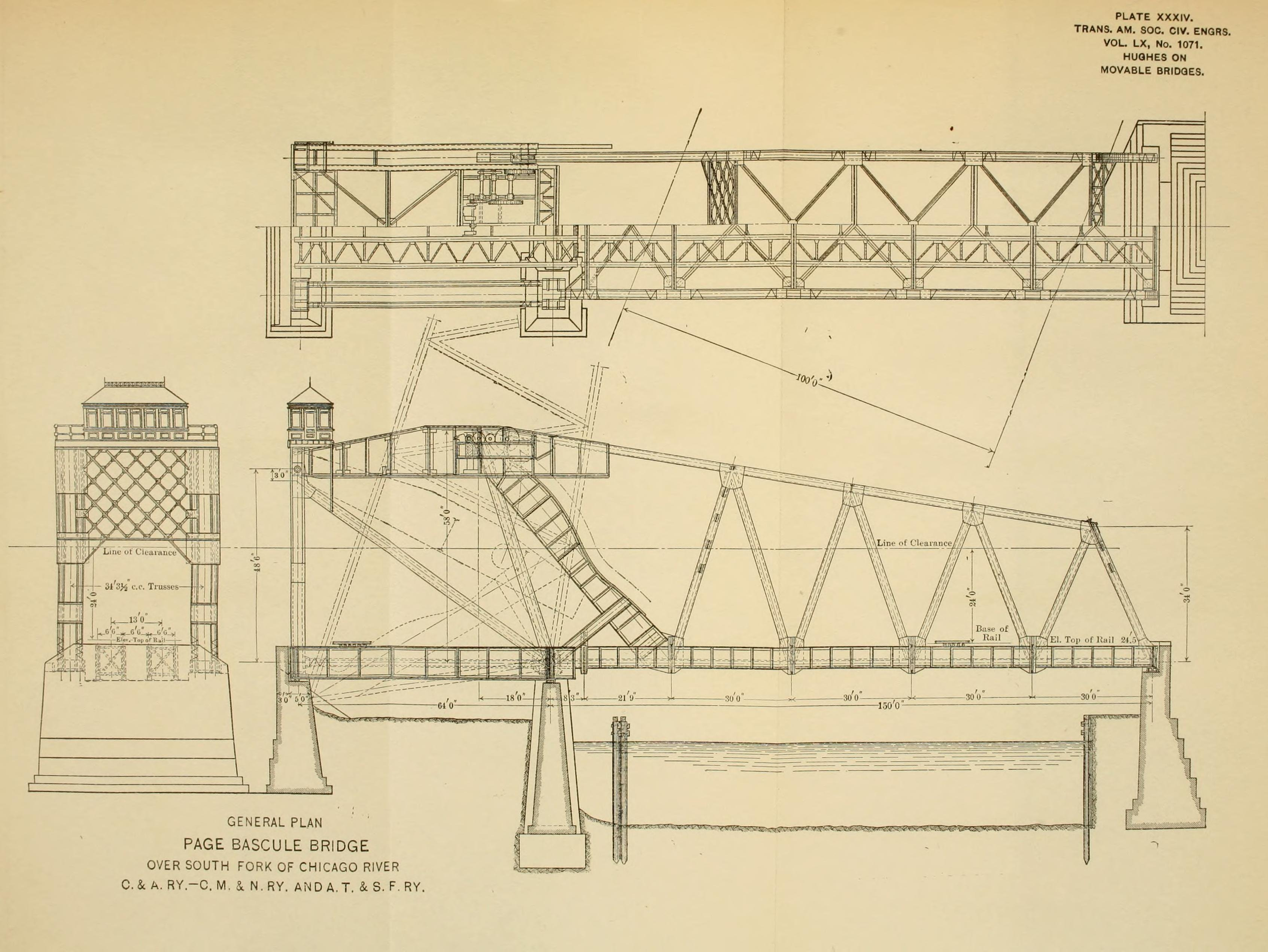 Architectural Drawings Of Bridges chicago and alton railroad bridge - historicbridges
