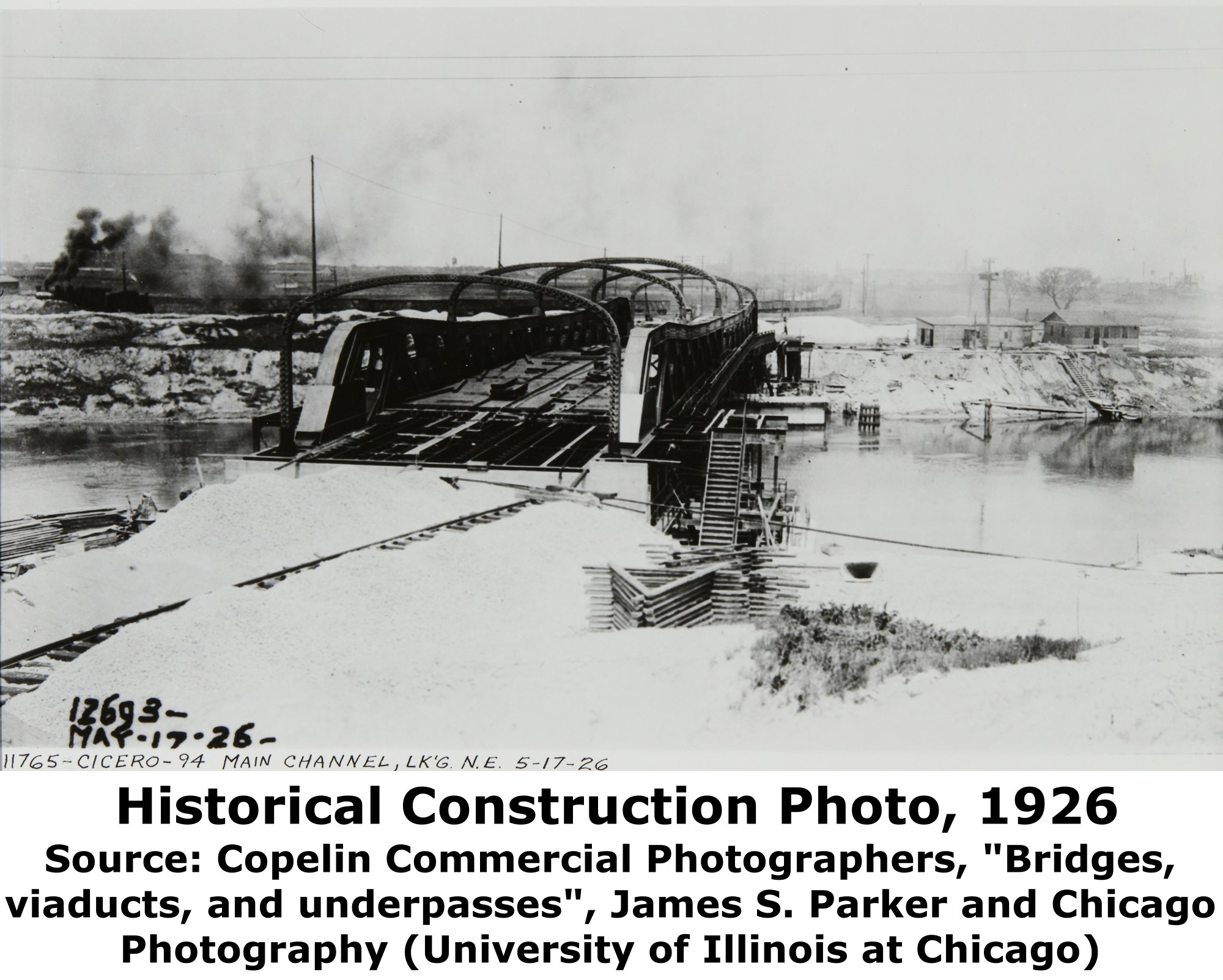 Illinois cook county cicero - Above This Photo Shows The Bridge Under Construction But Nearly Completed