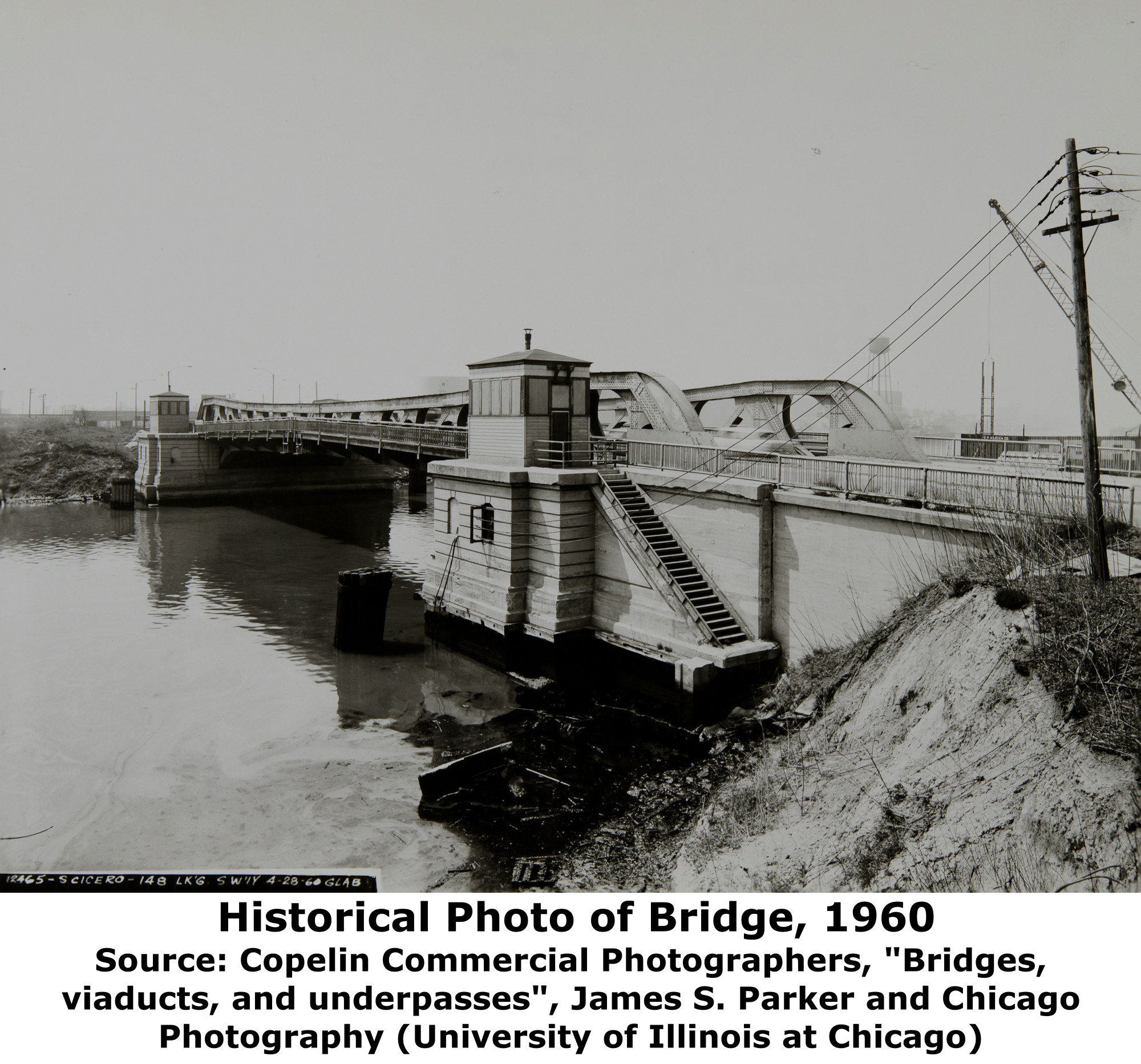 Illinois cook county cicero - Above This Photo Shows The Bridge In 1960 Only A Few Years Before It Was Widened