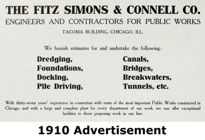 Fitz Simons and Connel Company Advertisement