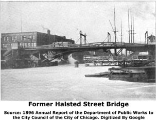 Former Halsted Street North Branch Bridge