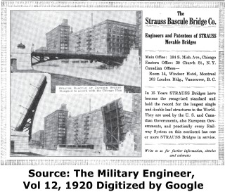 Strauss Bascule Bridge Company Advertisement