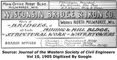 Wisconsin Bridge and Iron Company Advertisement