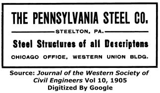 Pennsylvania Steel Company Advertisement