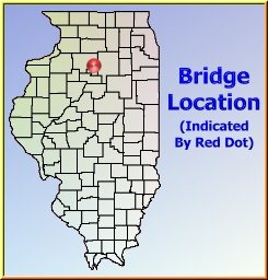 Map showing overview of bridge location.