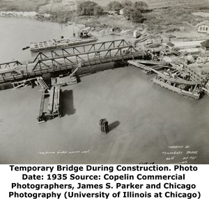 Temporary Torrence Avenue Bridge During Construction