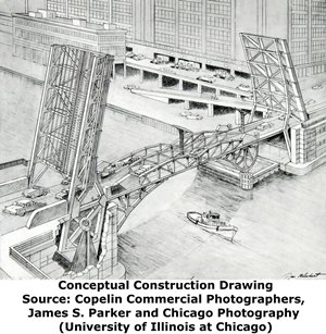 Van Buren Street Bridge Construction Drawing