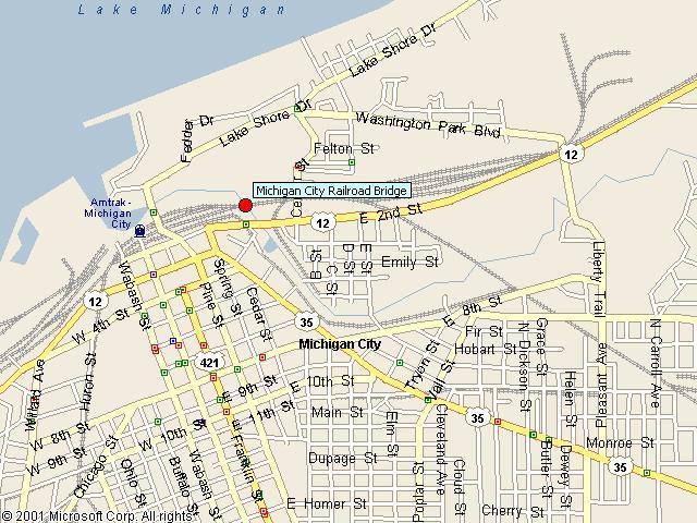 HistoricBridges  Michigan City Railroad Bridge Map