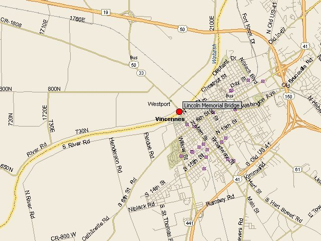 HistoricBridges  Lincoln Memorial Bridge Map