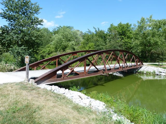 F W Kent Park Roof Truss Bridge Historicbridges Org