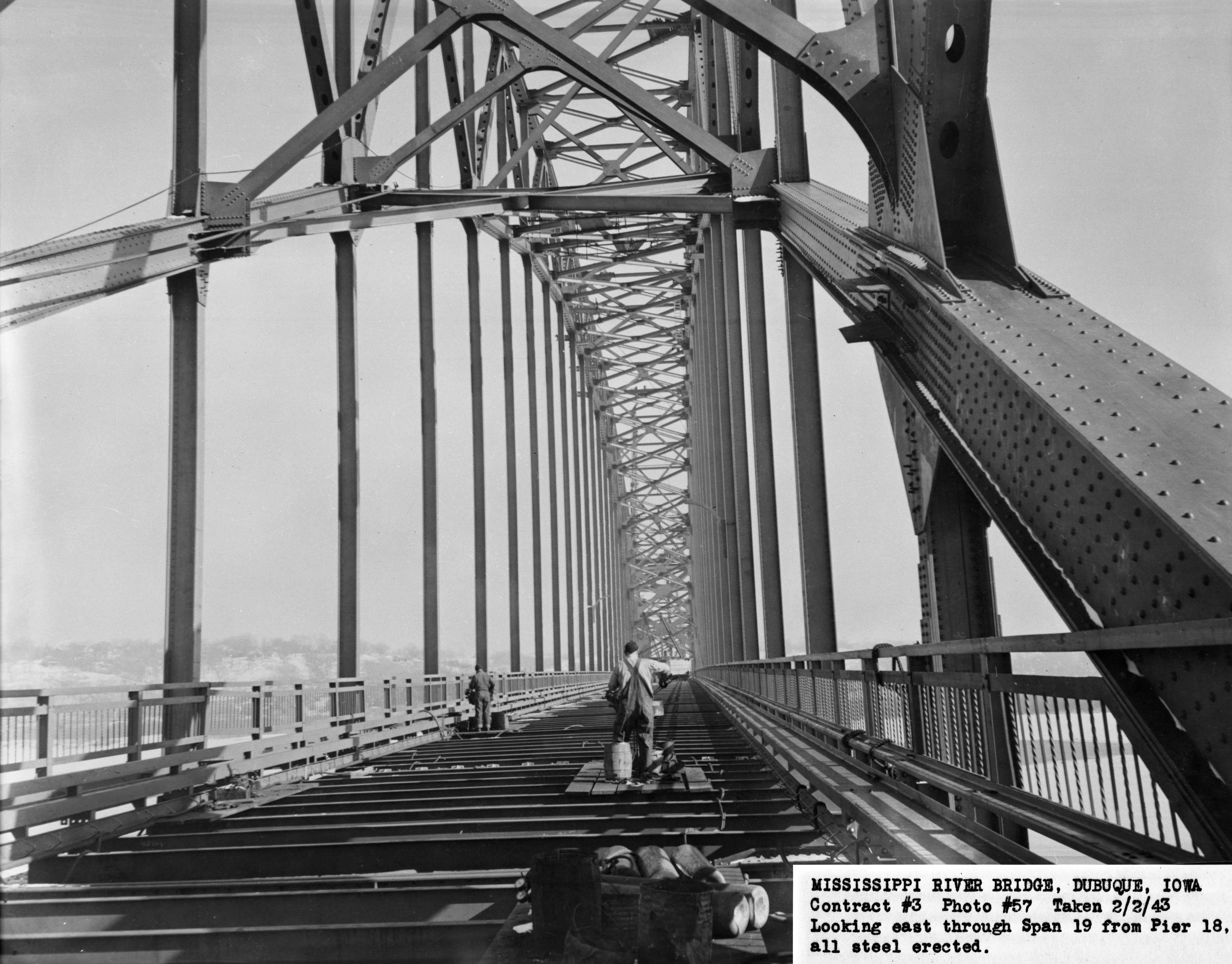 Above: This Photo Shows The Bridge With The Floor Beams In Place, But The  Deck Not Yet Constructed.
