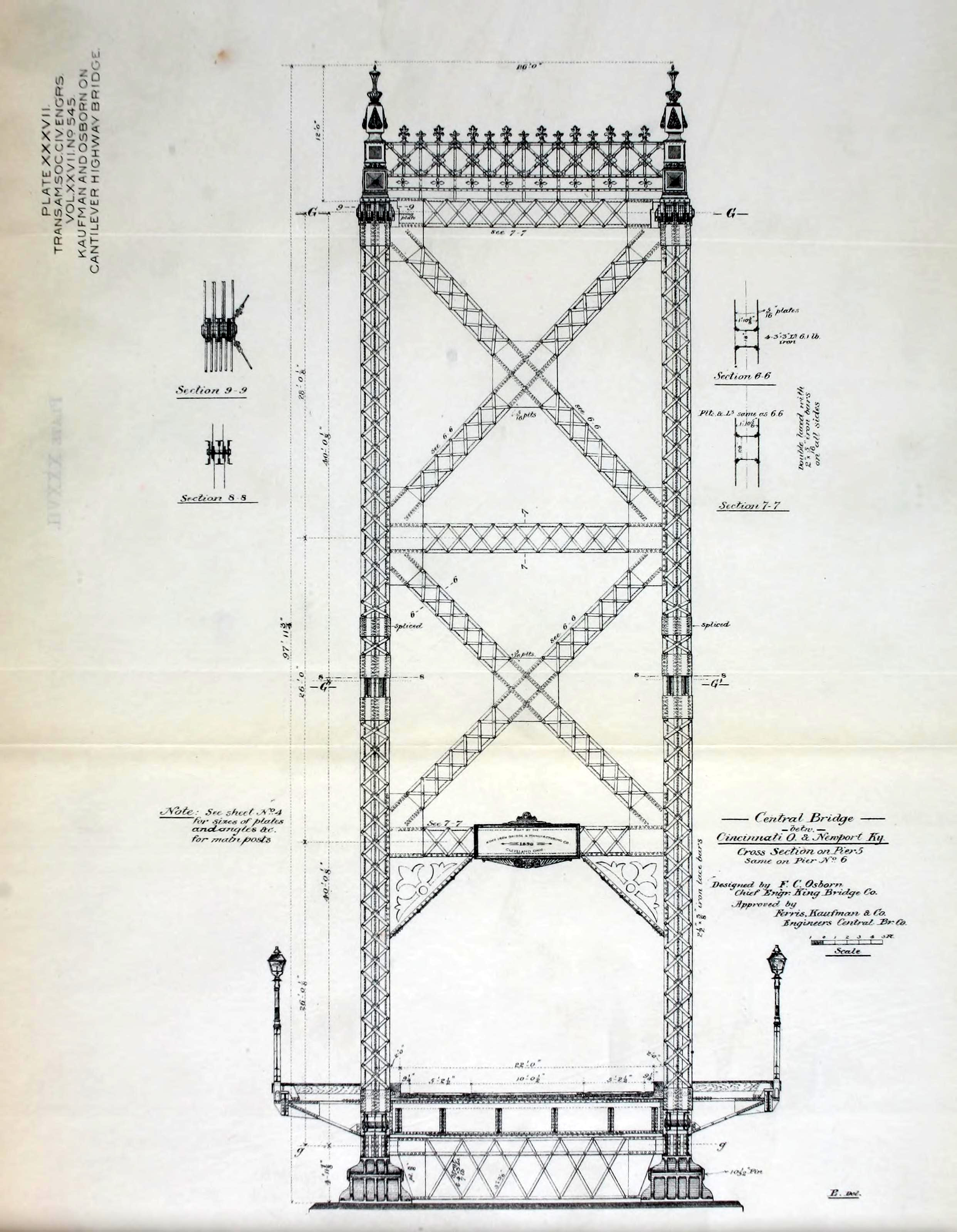 Central Bridge Truss Diagram Elevation Save In North America Only Canada Retains A Remnant Of This Key Development Period The Cantilever Waneta Photo And