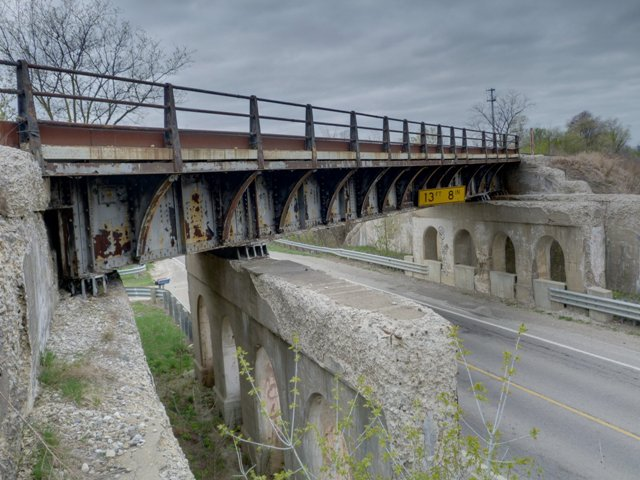 8 Mile Road Railroad Overpass