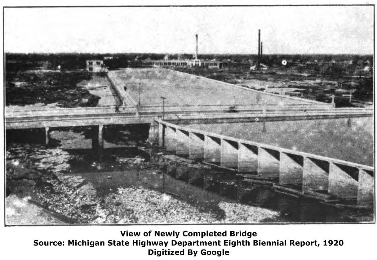 Michigan alger county trenary - Today The River Is Below The Bridge