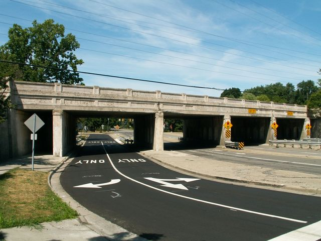 12 Mile Road Railroad Overpass