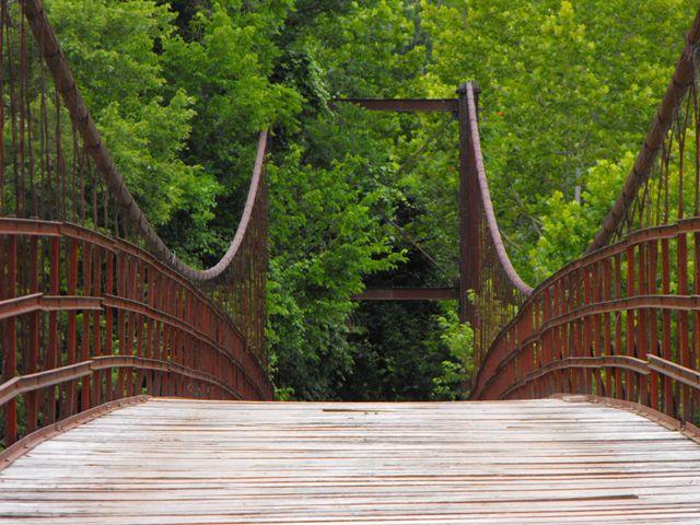 Auglaize swinging bridge her
