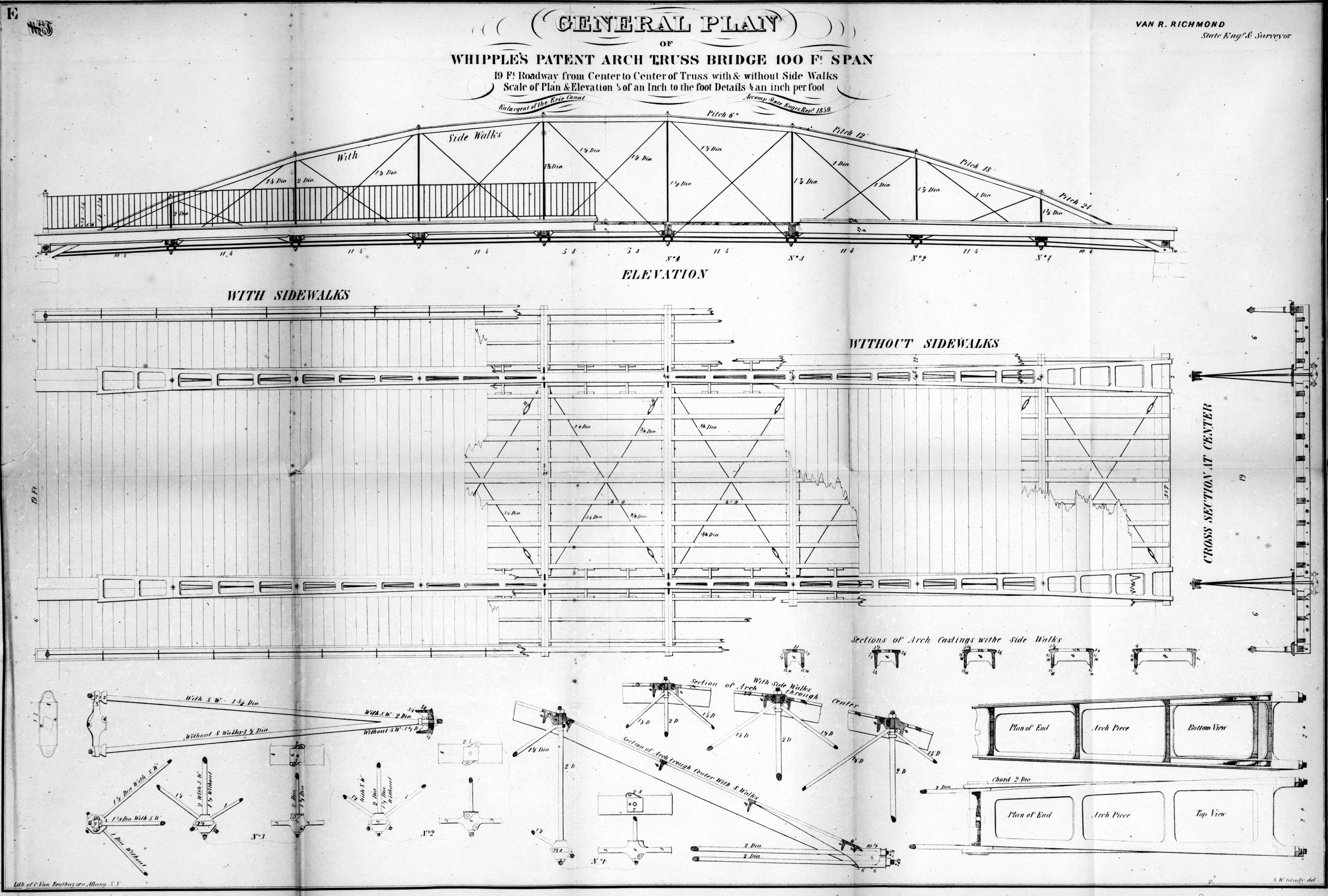 West point bridge design sample bridge - The Normans Kill Ravine Bridge Is One Such Example Having Been Built By An Unaffiliated Bridge Builder Whipple Was Almost Certainly Not Personally