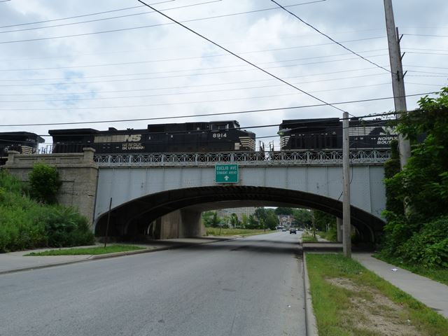 Eddy Road Railroad Overpass