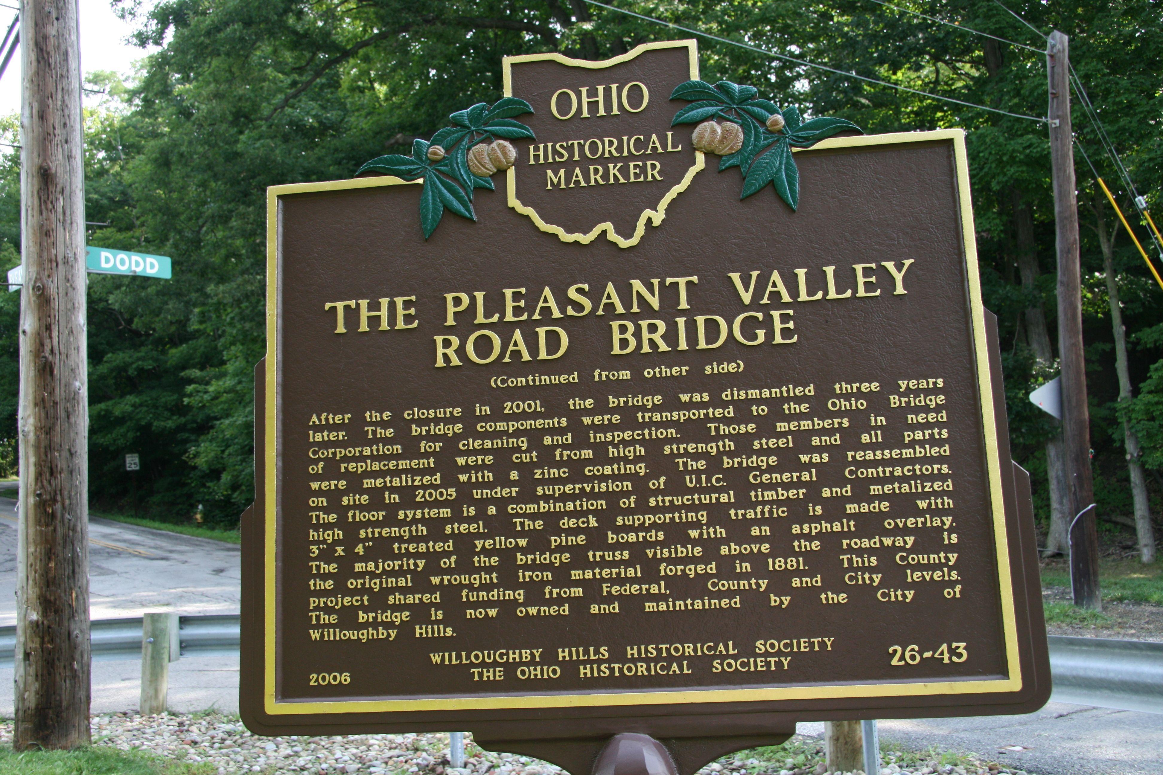 HistoricBridges org - Pleasant Valley Road Bridge Photo Gallery