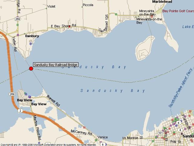 Historicbridges Org Sandusky Bay Railroad Bridge Map