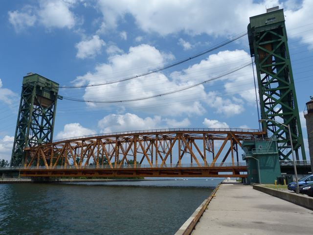 burlington canal lift bridge historicbridges org burlington canal lift bridge