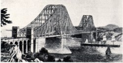 Artist Rendering of Bridge Proposed In 1884