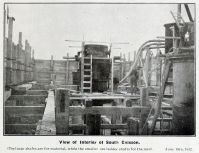 Substructure Construction, View Inside Caisson
