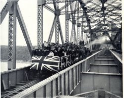 First Train Crossing The Bridge, October 17, 1917.