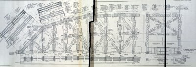 Sheet From The Bridge Plans Showing The Suspended Span.