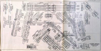Sheet From The Bridge Plans Showing A Cantilever Arm Truss Panel.