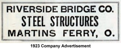 Riverside Bridge Company Martins Ferry Ohio