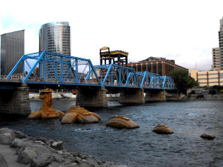 Grand Rapids Railroad Bridge During ArtPrize