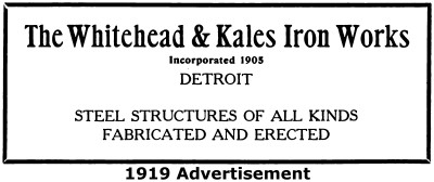 Whitehead and Kales Iron Works Detroit Michigan