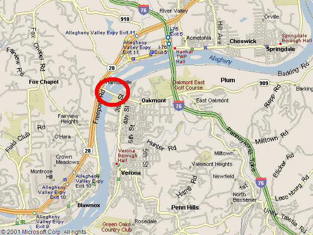 Map showing bridge location.