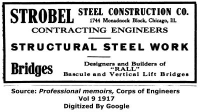 Strobel Steel Construction Company Chicago Advertisement