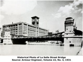 La Salle Street Bridge Construction