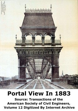Smithfield Street Bridge in 1883 With Original Portal
