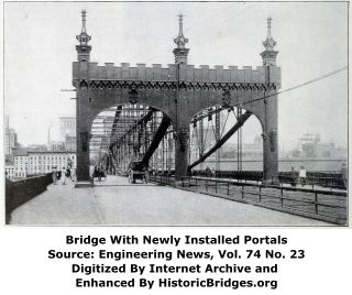 Smithfield Street Bridge With New Portals