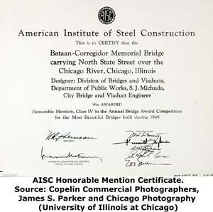 State Street Bridge American Institute of Steel Construction Certificate