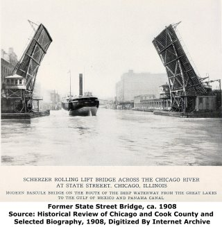 Former State Street Bascule Bridge Chicago Illinois Chicago River