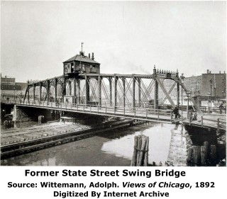 Former State Street Swing Bridge Chicago Illinois Chicago River