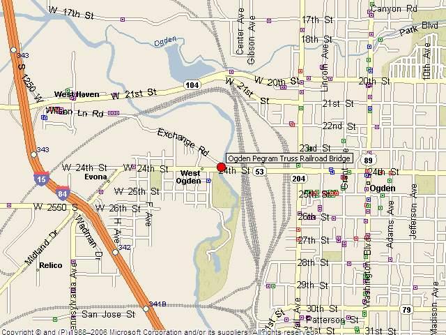 HistoricBridges  Ogden Pegram Truss Railroad Bridge Map